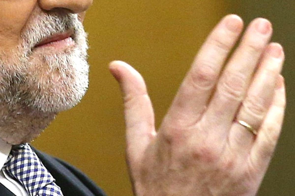 Imagen de Mariano Rajoy durante el debate de investidura. (Efe)