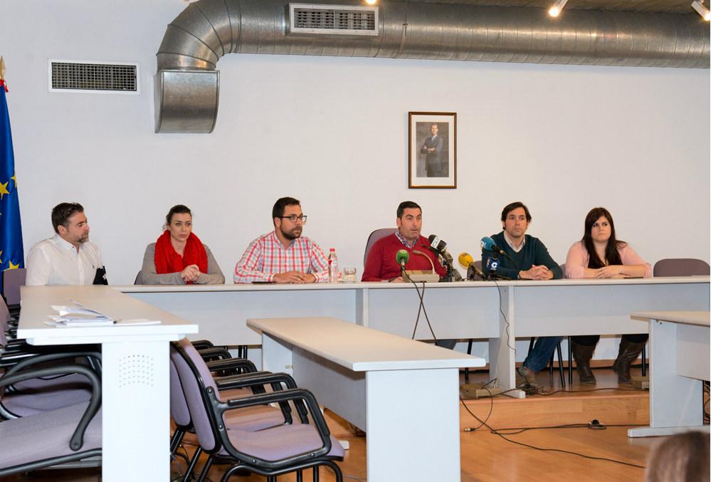 Equipo de gobierno de Ciudadanos en Valdemoro en la dimisión de Raúl del Olmo. ( Foto: Ayuntamiento de Valdemoro)