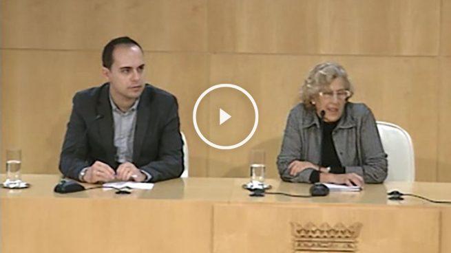 José Manuel Calvo y Manuela Carmena