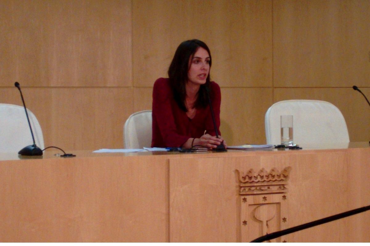 Rita Maestre en el Palacio de Cibeles en Madrid. (Foto: OKDIARIO)