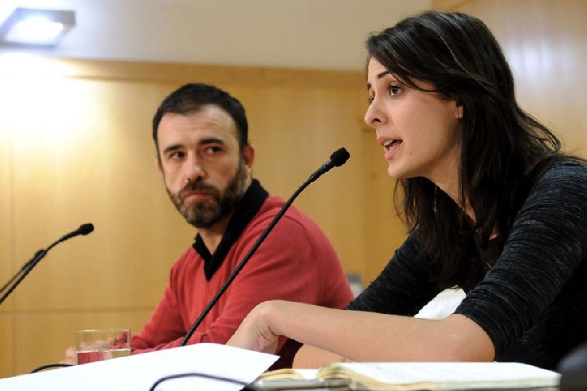 Rita Maestre y Nacho Murgui en rueda de prensa. (Foto: Ayuntamiento de Madrid)