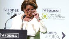 La ex alcaldesa Rita Barberá, durante un acto celebrado en febrero de 2015 (Foto: Getty)