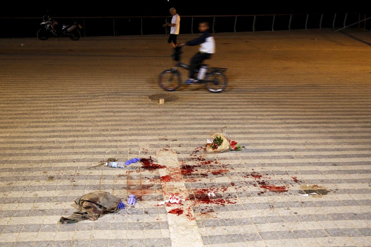 Escena del crimen en Jaffa, en las afueras de Tel Aviv (Foto: Reuters)