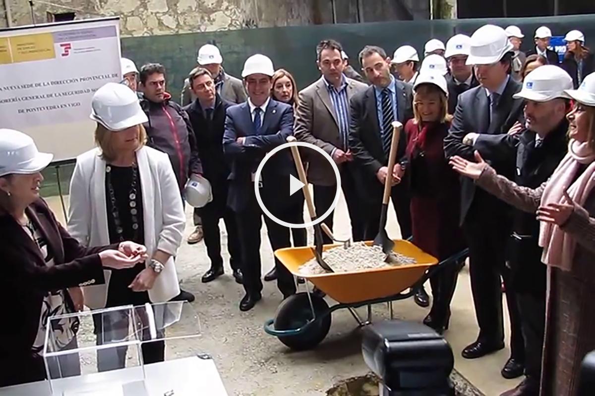 Discusión en el acto de primera piedra del edificio de la Seguridad Social en Vigo