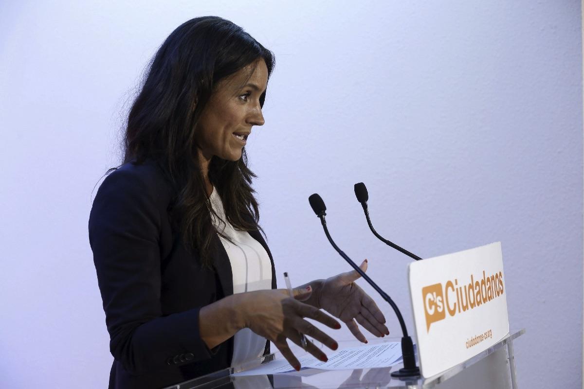 Begoña Villacís en una rueda de prensa. (Foto: EFE)