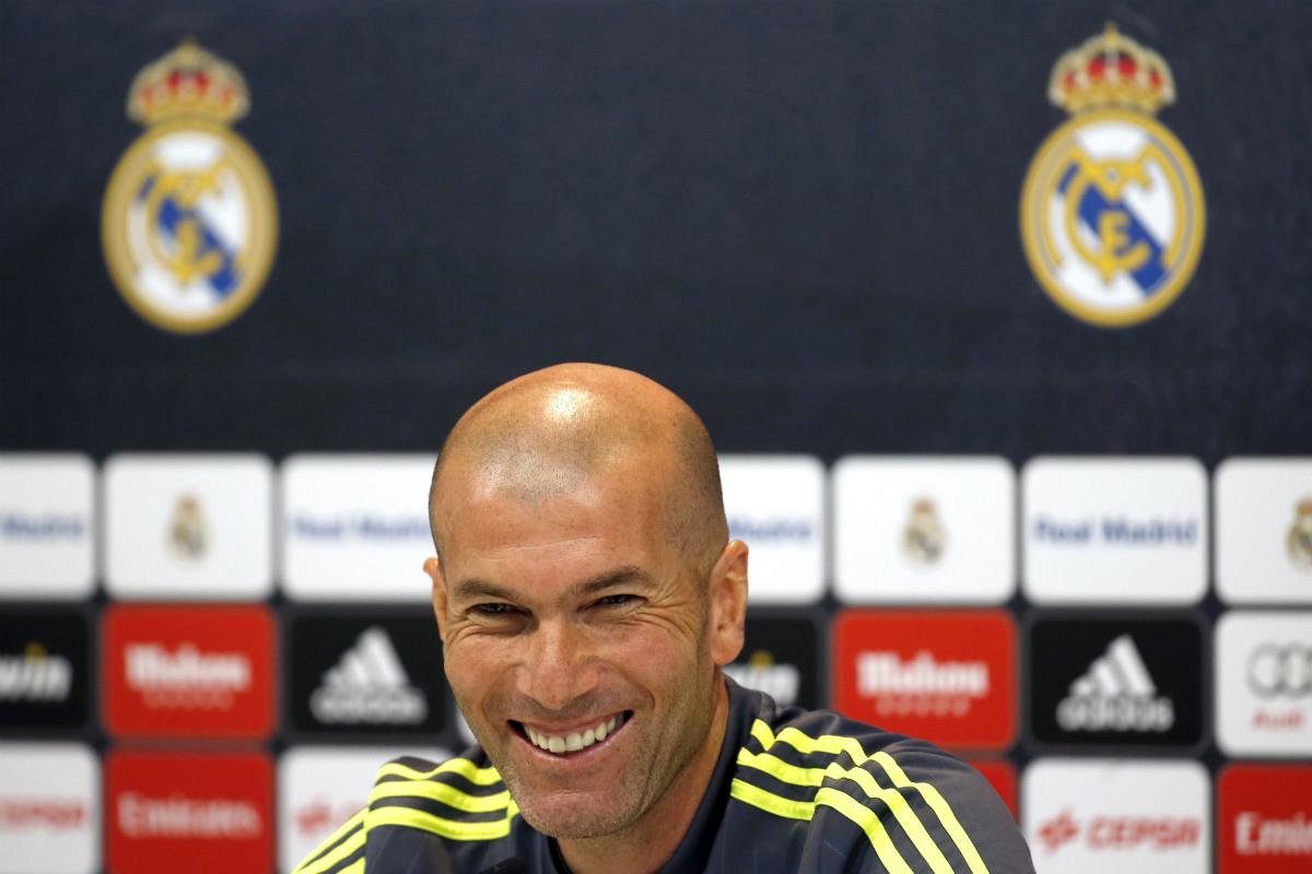 Zidane, en rueda de prensa. (EFE)