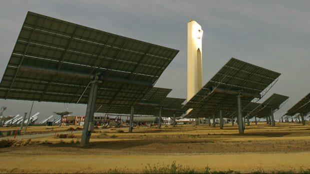 Planta solar de Abengoa en Sanlúcar (Foto: GETTY)