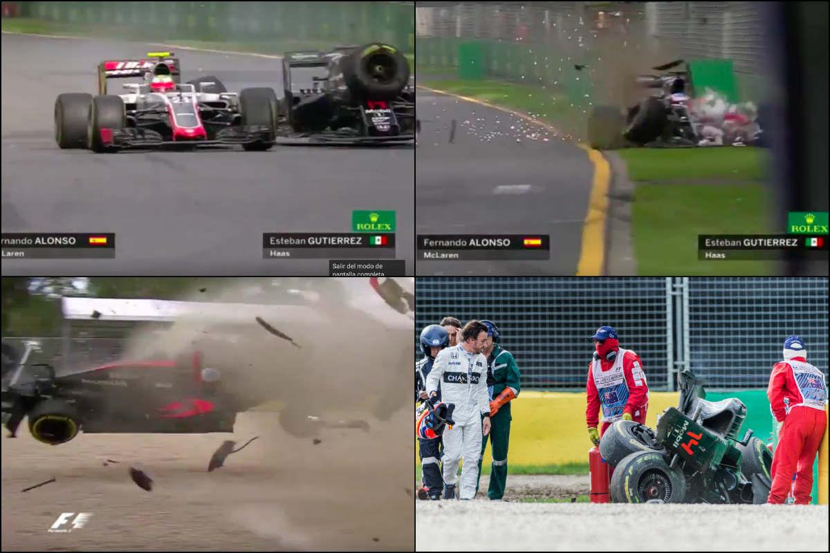 Así fue el accidente de Fernando Alonso.