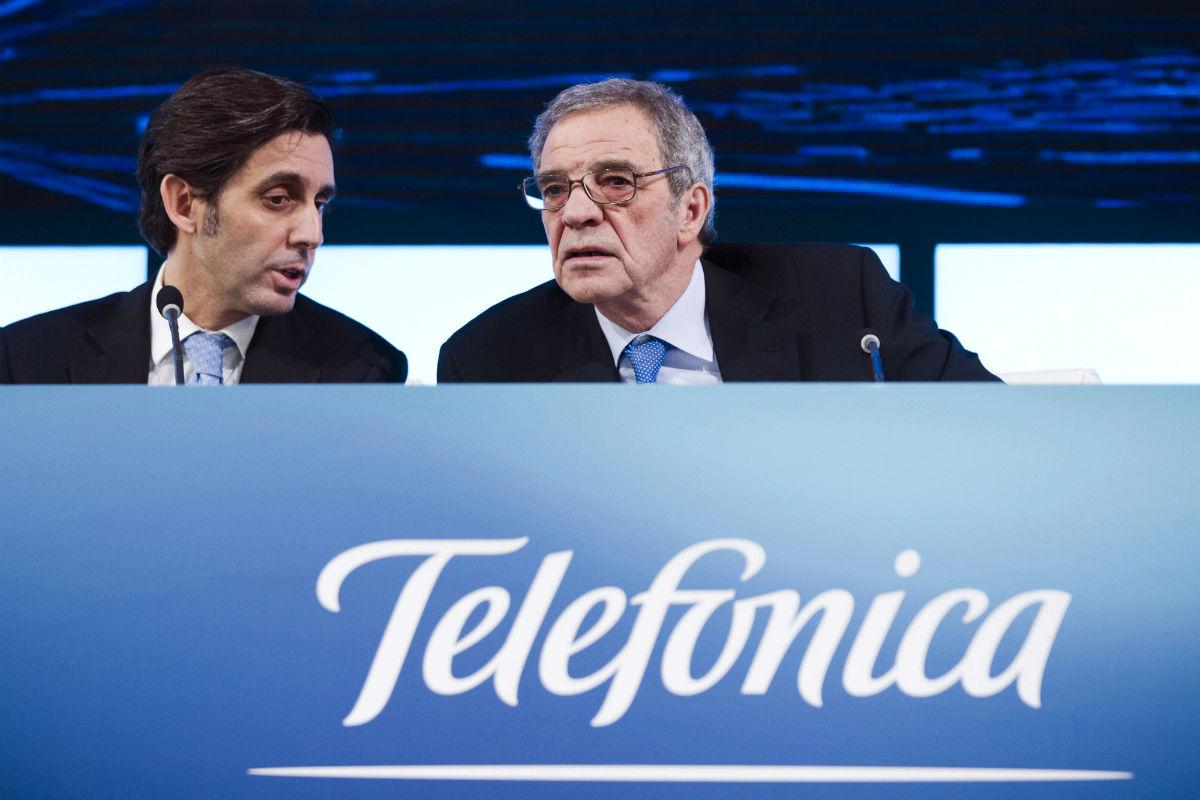 José María Álvarez-Pallete y César Alierta (Foto: EFE).