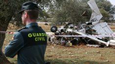 Imagen de archivo de un accidente de avioneta.