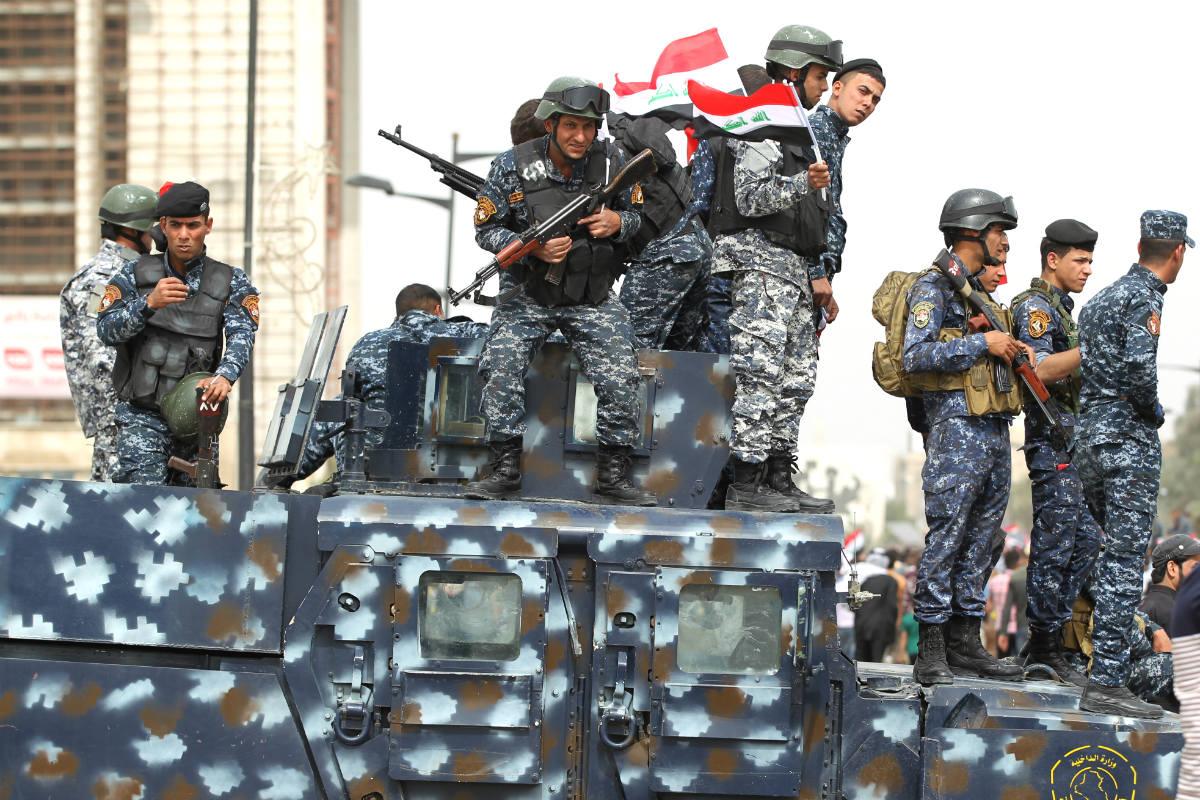 Efectivos del ejército irakí en las calles de Bagdad. (AFP)