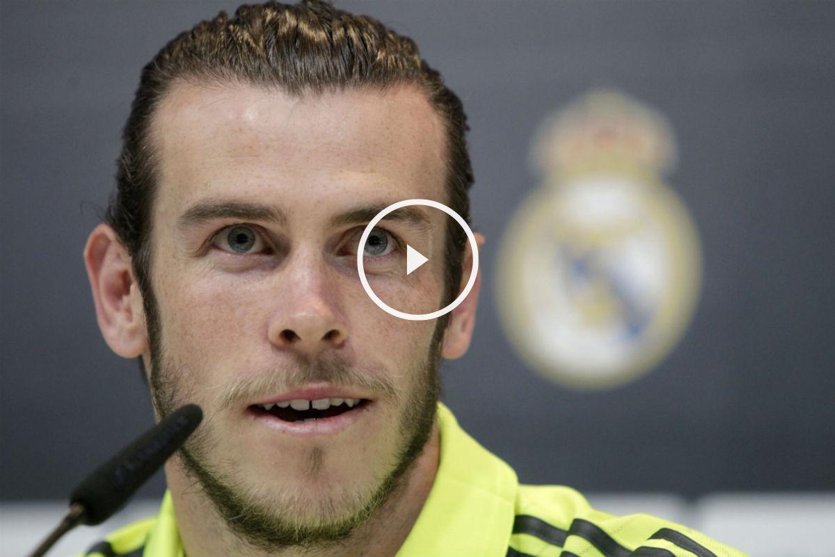 Gareth Bale, en rueda de prensa. (EFE)