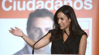 La portavoz de Ciudadanos en el Ayuntamiento de Madrid, Begoña Villacís (Foto: AFP).