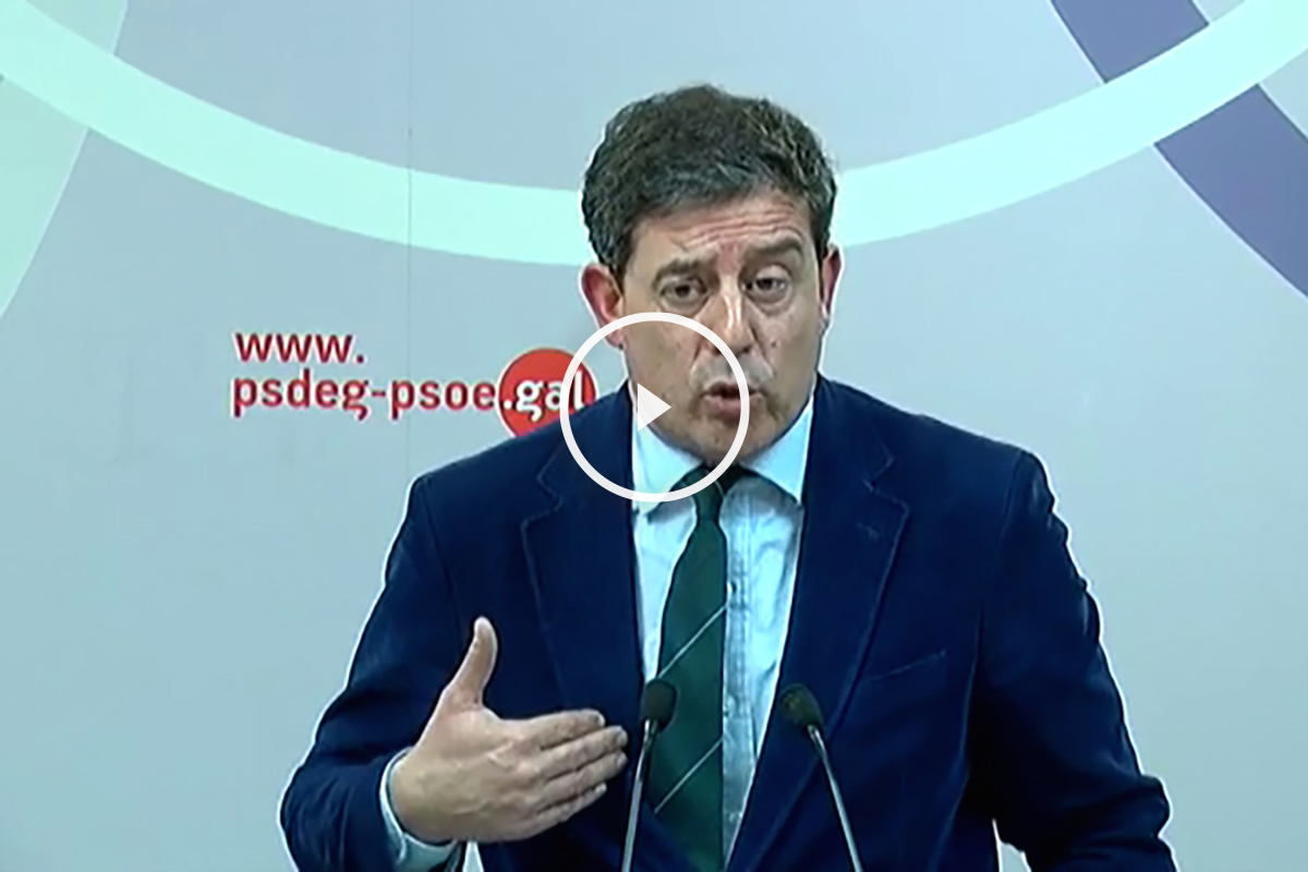 José Ramón Gomez Besteiro en la rueda de prensa.