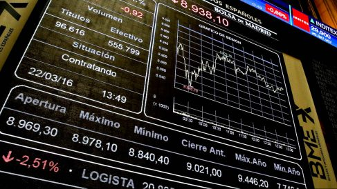 Panel de la Bolsa Española (Foto: EFE)