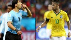 Luis Suárez y Neymar se enfrentan en Brasil.