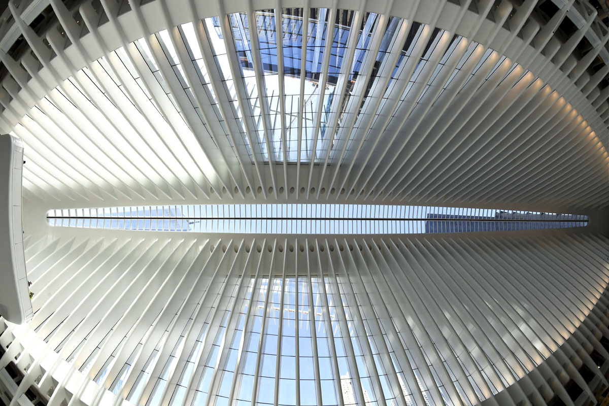 Interior del Oculus. (Foto: AFP)