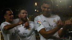 Casemiro celebra el gol del triunfo ante Las Palmas. (Reuters)