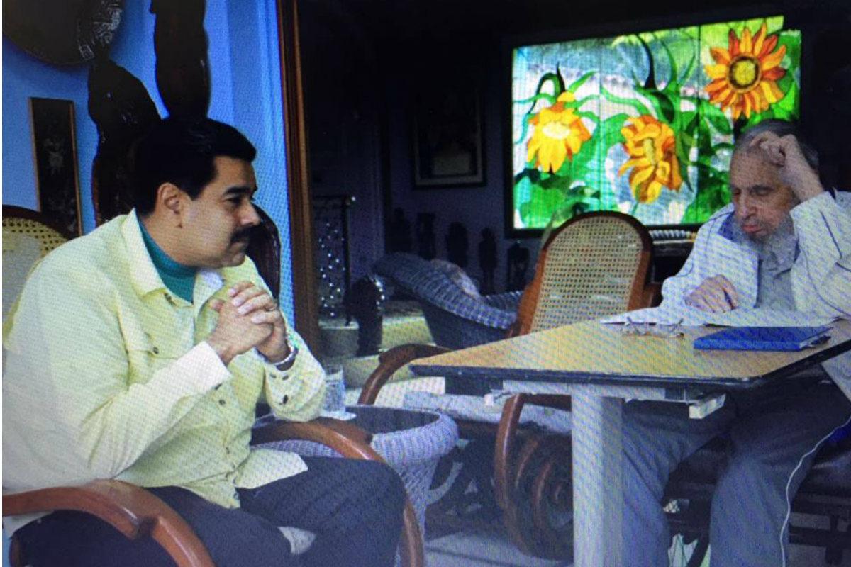 Nicolás Maduro y Fidel Castro, este sábado en La Habana.