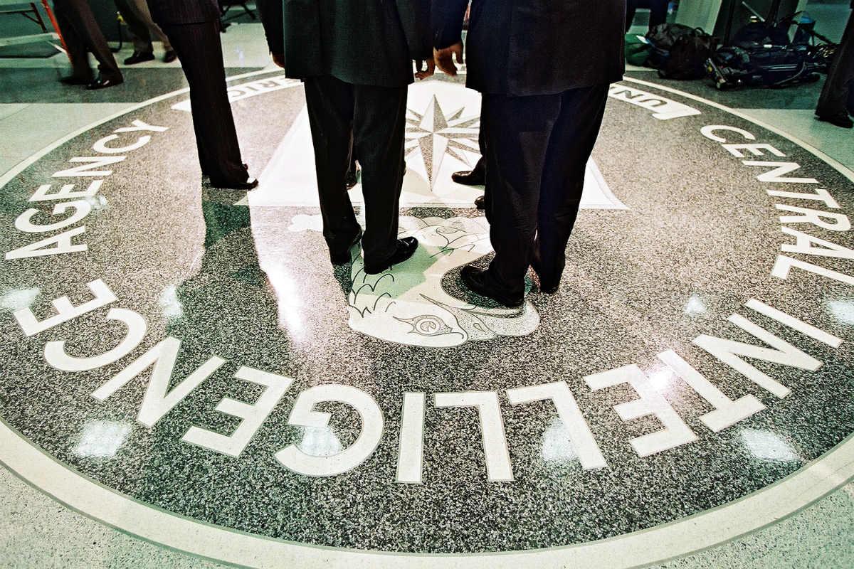 Vestíbulo de la sede de la CIA en Langley. (Getty)