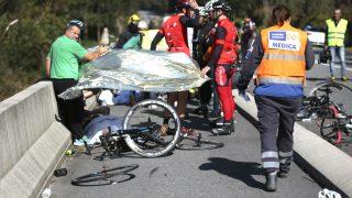 Imagen del atropello de dos ciclistas el pasado año en Pontevedra (Foto: Efe).
