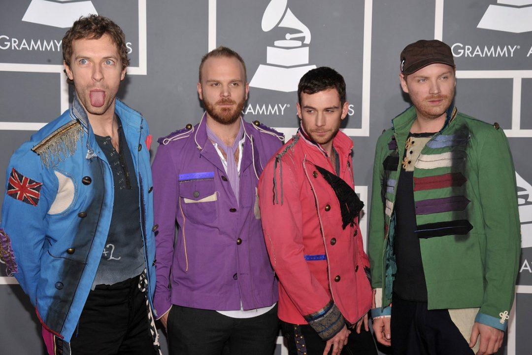 Coldplay durante los Grammys de 2009 (Getty)