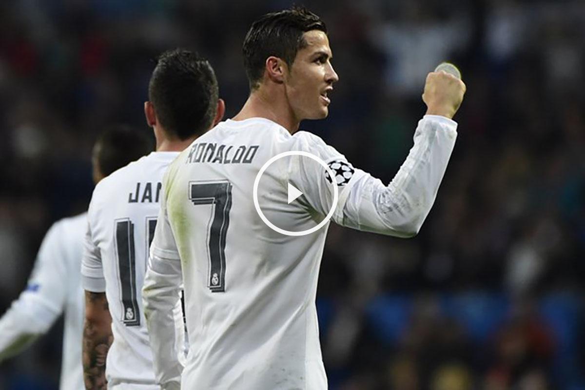 Cristiano celebra uno de sus 13 goles esta temporada en Champions.