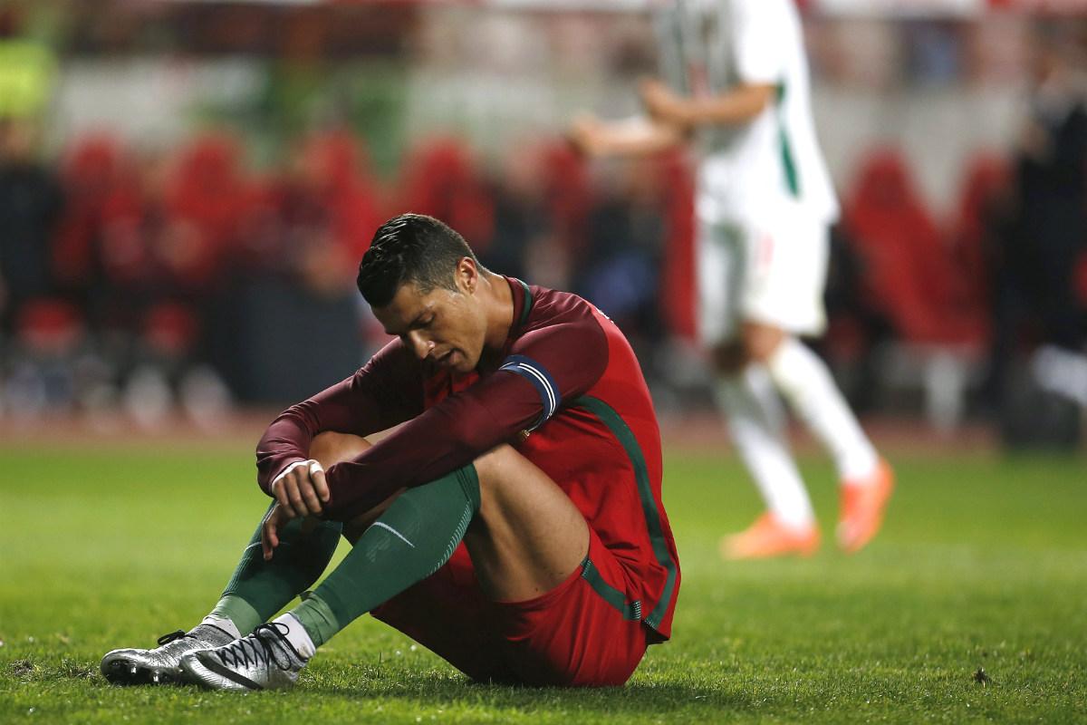 Cristiano falló un penalti ante Bulgaria y Portugal perdió. (Reuters)