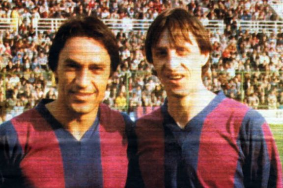 Cruyff jugó diez partidos en el Levante.
