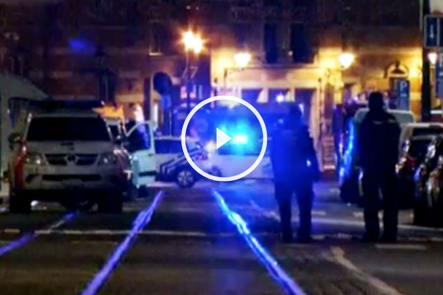 Imagen de la policía de Bruselas el pasado martes. (Getty)