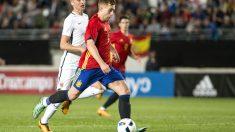 Gerard Deulofeu anotó el gol de la victoria contra Noruega. (EFE)