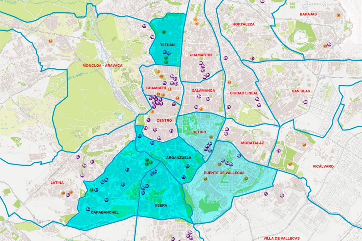 Distritos en los que se han vivido enfrentamientos. (Infografía: Carmen Vivas)