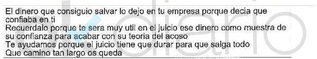 SMS incluido en el Informe de la UCO.