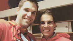 Felipe Reyes y Rafa Nadal.