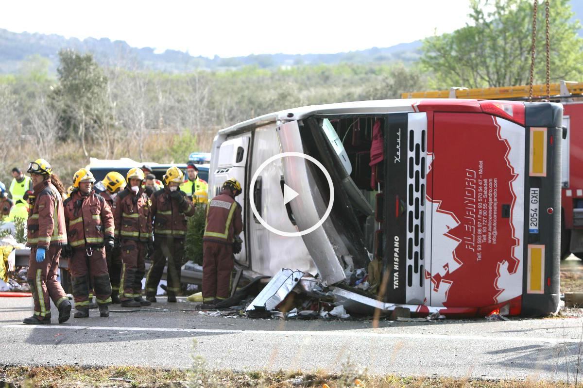 Imagen del vehículo siniestrado (Foto: Efe).