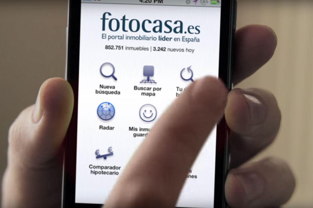 Aplicación móvil de Fotocasa (Foto: FOTOCASA).