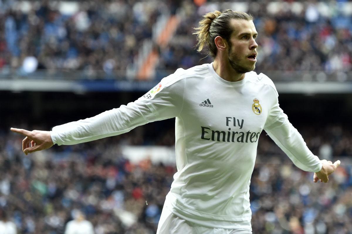 Gareth Bale celebra un gol contra el Celta. (AFP)