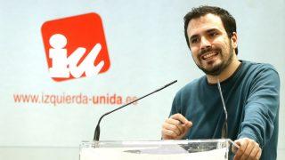 Alberto Garzón en un acto de IU (Foto: Efe).