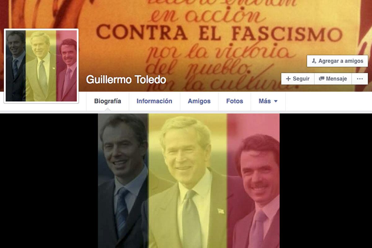Foto de perfil de Willy Toledo en Facebook.