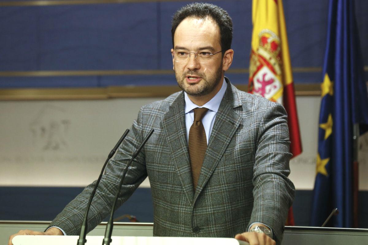 El portavoz del PSOE en la Cámara Baja, Antonio Hernando (Foto: Efe)