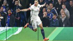 Ibrahimovic marcó el 1-2 y asistió a Rabiot en el 0-1 contra el Chelsea. (Reuters)