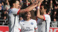 Ibrahimovic anotó cuatro goles en la victoria del PSG frente al Troyes. (AFP)