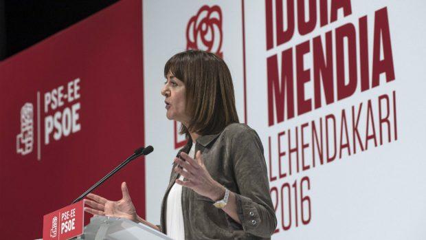 La secretaria general de los socialistas vasco, Idoia Mendia. (Foto:EFE)