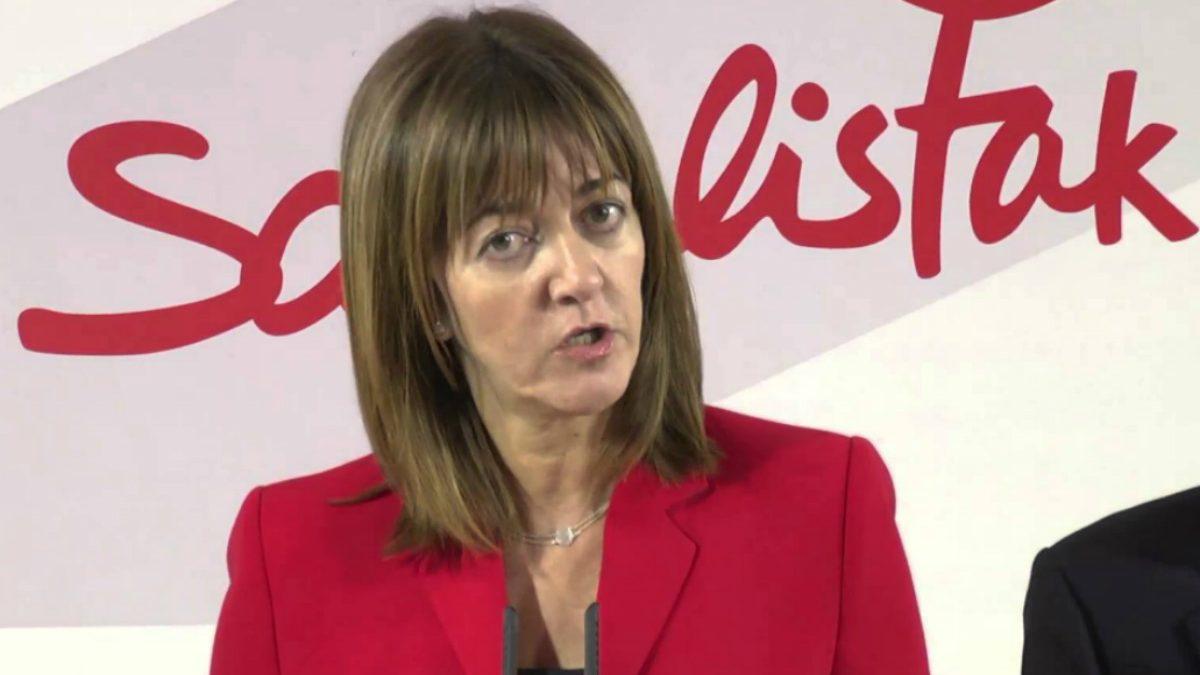 La secretaria general de los socialistas vascos, Idoia Mendia. (Foto: PSE-EE)