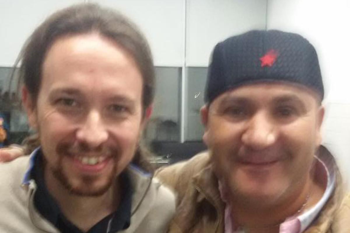 Iglesias junto a Bódalo en una imagen colgada en Twitter por el segundo.