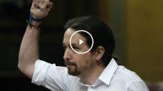 Pablo Iglesias, en el debate de investidura. (EFE)
