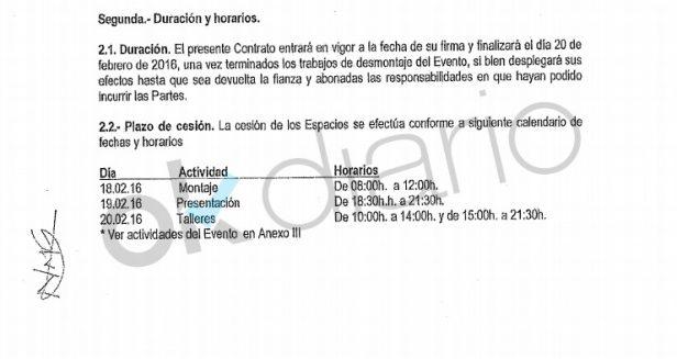 Los asociación del acto de Varoufakis firmó el contrato con el Ayuntamiento tras iniciar el montaje