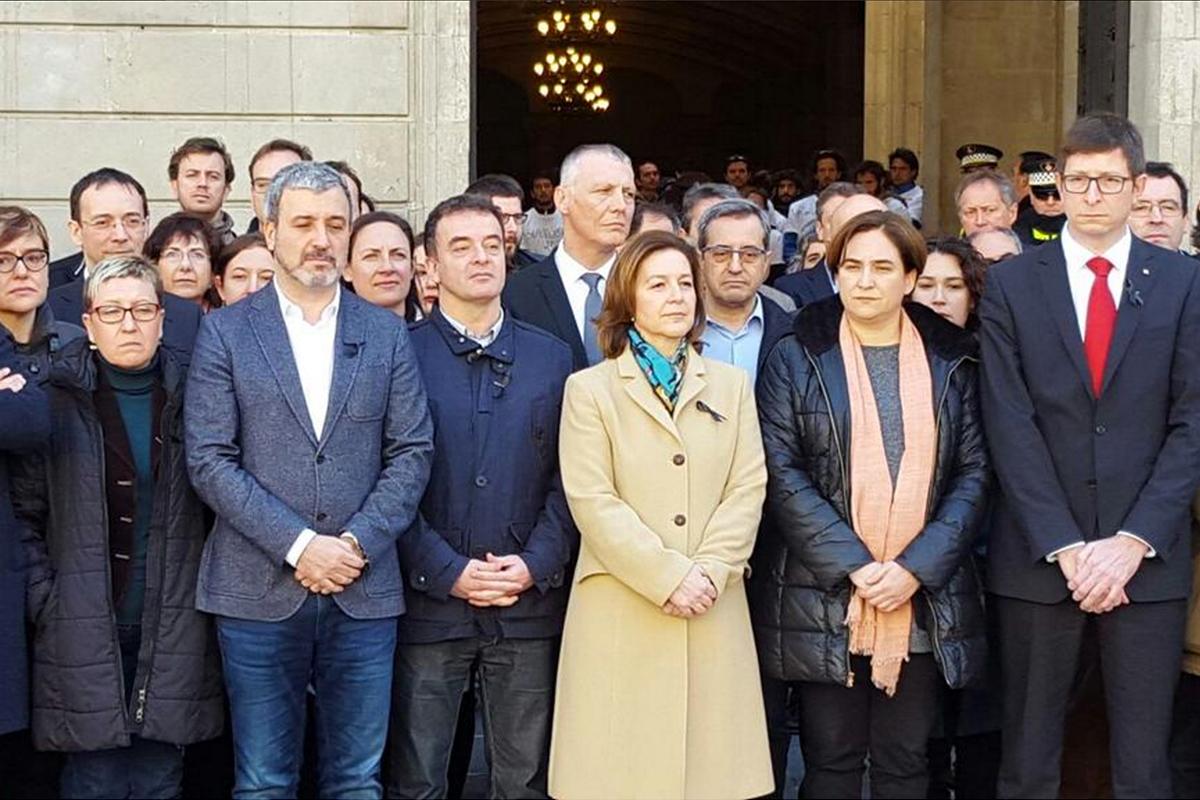 Minuto de silencio por el 11M en Barcelona.