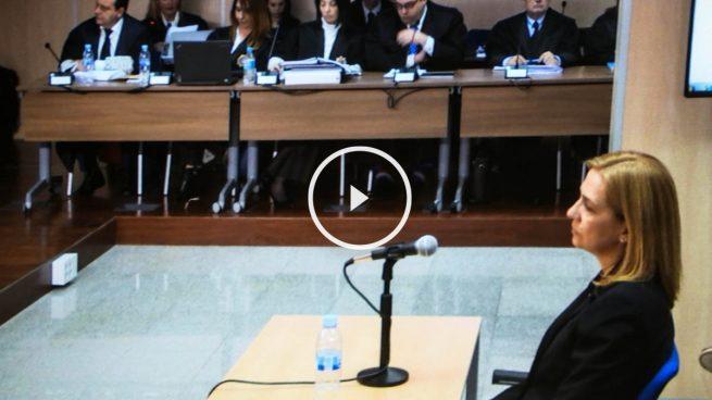 La infanta Cristina se niega a responder a la acusación particular en el caso Urdangarin