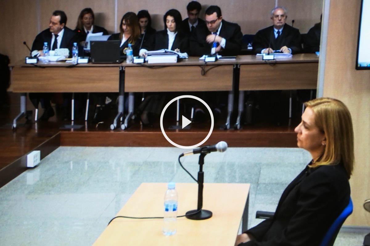 La infanta Cristina durante el juicio. (Foto: EFE)